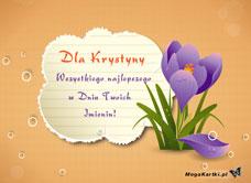 życzenia Dla Krystyny Darmowa E Kartka Z Kategorii Imienne