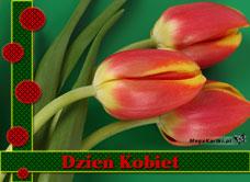 e-Kartka Darmowe e Kartki Dzień Kobiet Tulipany na Dzień Kobiet, kartki internetowe, pocztówki, pozdrowienia