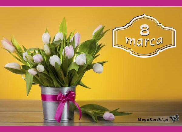 Tulipany i życzenia