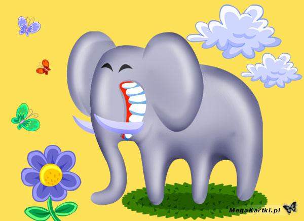 Wesoły słoń