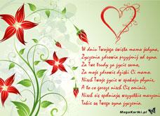 życzenia Od Syna Darmowa E Kartka Z Kategorii Dzień Matki