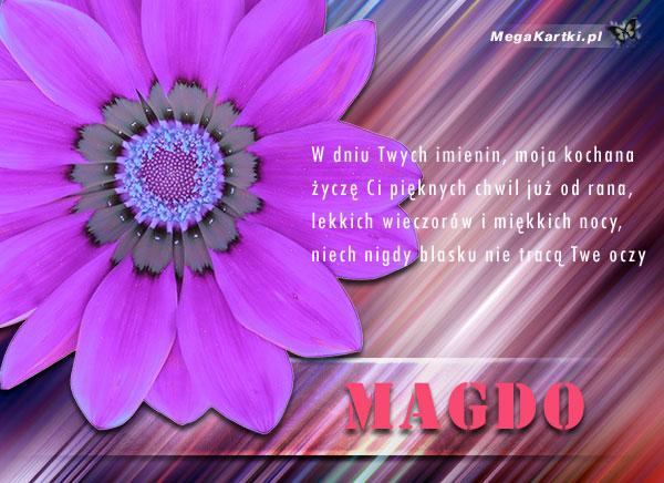 Życzenia dla Magdy