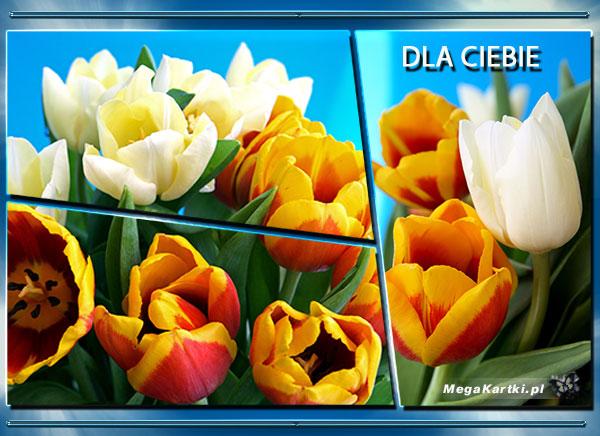 Pocztówka z kwiatami