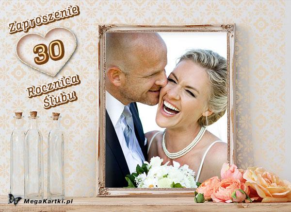 Zaproszenie na 30 Rocznicę Ślubu