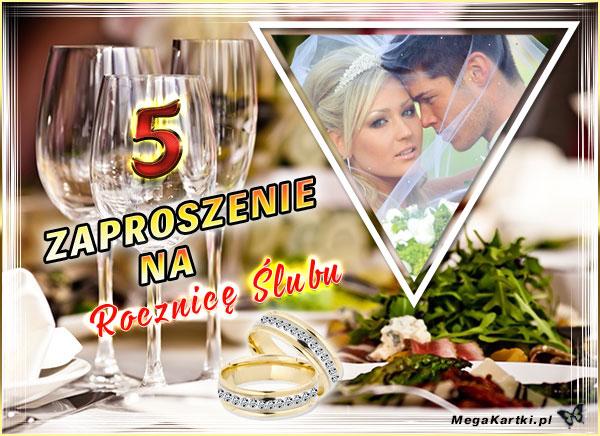 Zaproszenie na 5 Rocznicę Ślubu