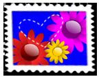 Znaczek Kwiatki