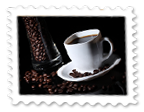 Znaczek Czarna Kawa