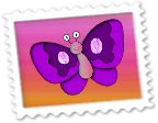 Znaczek Motylek